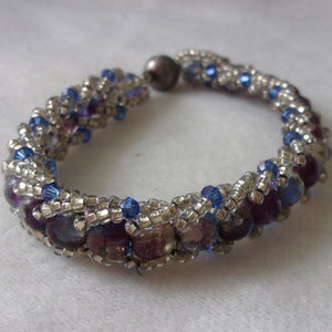 Jewelry - Magnetic clasp bead wrapped bracelet